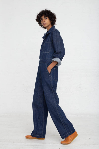 As Ever Zip Jumpsuit in Denim side view