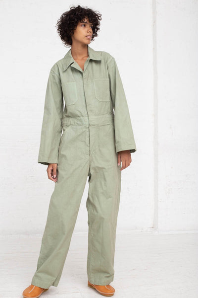 As Ever Zip Jumpsuit in Sage full front view
