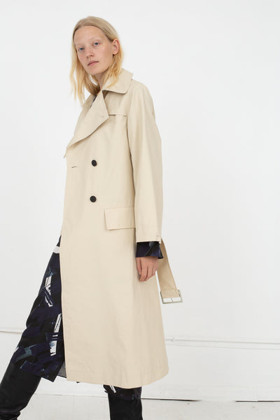 Studio Nicholson Angstrom Raincoat in Cream, Side View