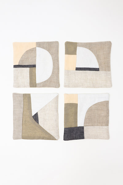 Thompson Street Studio Patchwork Coaster in Neutral | Oroboro Store | New York, NY