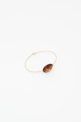 Mary MacGill Stone Cuff in Scotch Amber, front view, Oroboro Store, New York, NY