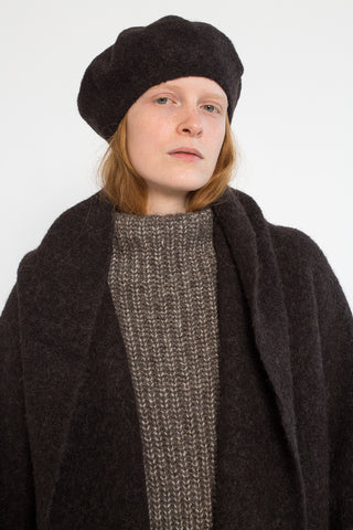 Lauren Manoogian Horizontal Beret in Monk | Oroboro Store | New York, NY