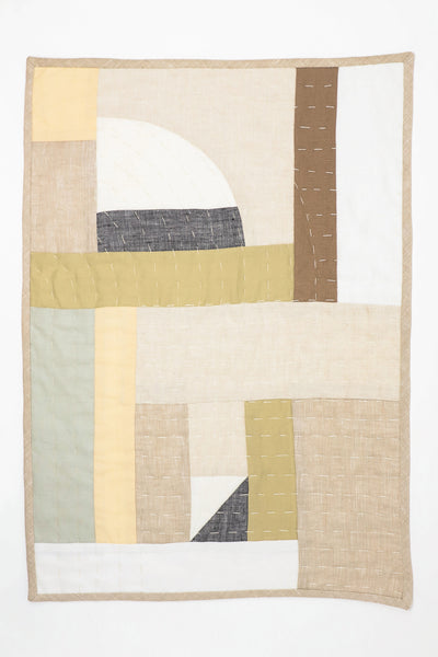 Thompson Street Studio Patchwork Placemat in Neutral | Oroboro Store | New York, NY