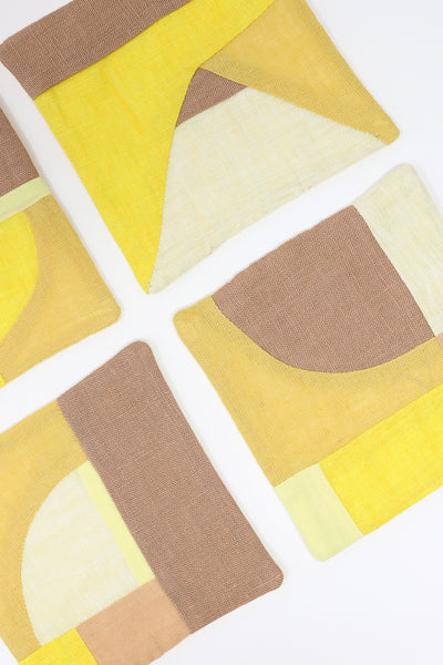Thompson Street Studio Patchwork Coaster in Yellow | Oroboro Store | New York, NY