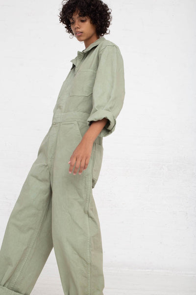 As Ever Zip Jumpsuit in Sage side view