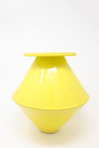 BZIPPY Jumbo Diamond Vase in Gloss Yellow | Oroboro Store | New York, NY