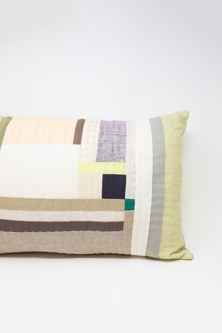 Thompson Street Studio Line Pillow in Neutral/Green | Oroboro Store | New York, NY