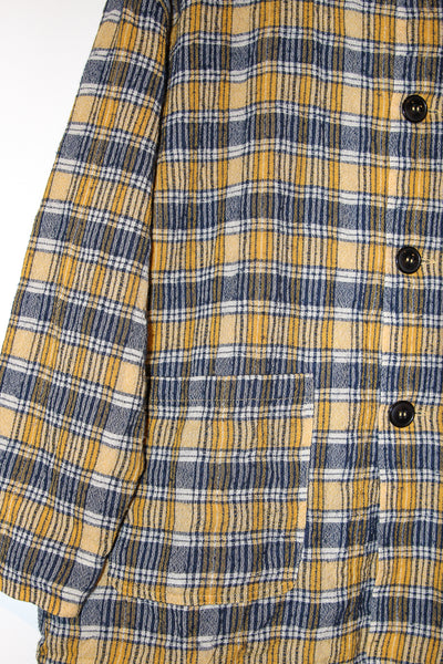 Ichi Antiquites Jacket in Check Yellow cropped pocket detail