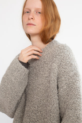Lauren Manoogian Astrakhan Pullover in Smoky | Oroboro Store | New York, NY