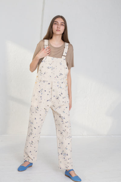 Caron Callahan Abbott Overalls in Painted Canvas on model view front