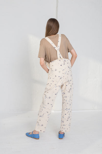 Caron Callahan Abbott Overalls in Painted Canvas on model view back