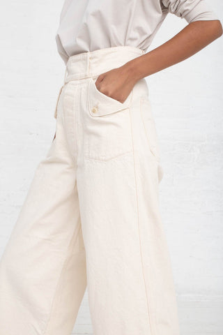 As Ever Willow Pant in Natural cropped side view