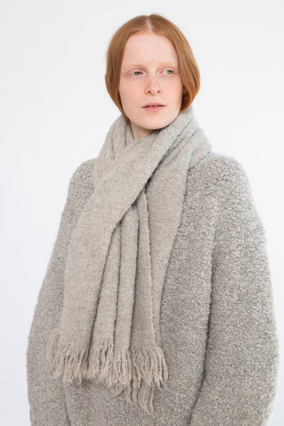 Lauren Manoogian Handwoven Keyhole Scarf in Grey | Oroboro Store | New York, NY