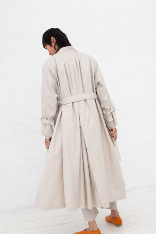 Cosmic Wonder Gaberdine Mythic Dress Coat in Beige| Oroboro Store | New York, NY