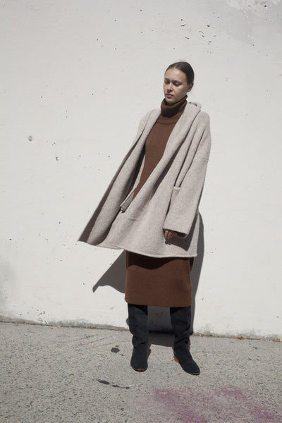 Capote Coat in Ecru