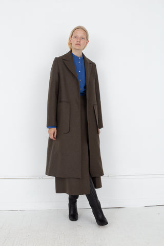 Studio Nicholson Ounce Coat in Forest Green | Oroboro Store | New York, NY