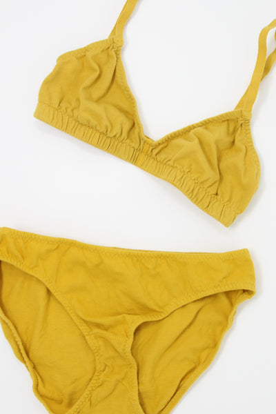 Pansy Bra in Sunflower, Flat Image with Undies