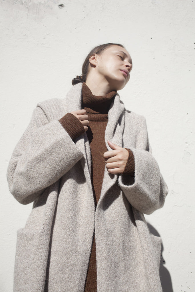 Lauren Manoogian Capote Coat in Ecru | Oroboro Store | Brooklyn, New York