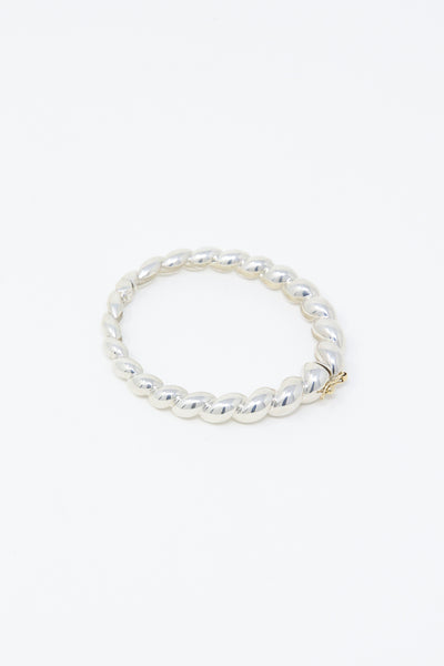 Ursa Major Tapered Rope Hinged Bracelet in Sterling and 14K Yellow Gold