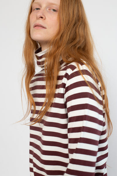 Ichi Antiquites Turtleneck in White Chocolate Cotton | Oroboro Store | New York, NY