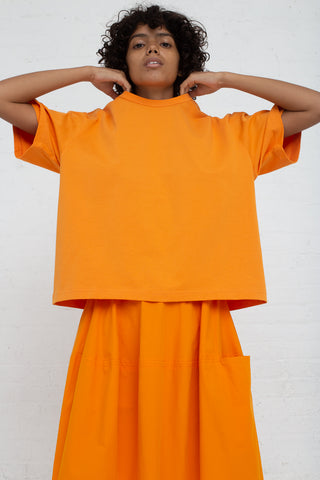 Studio Nicholson Short Sleeve T-Shirt in Saffron front view