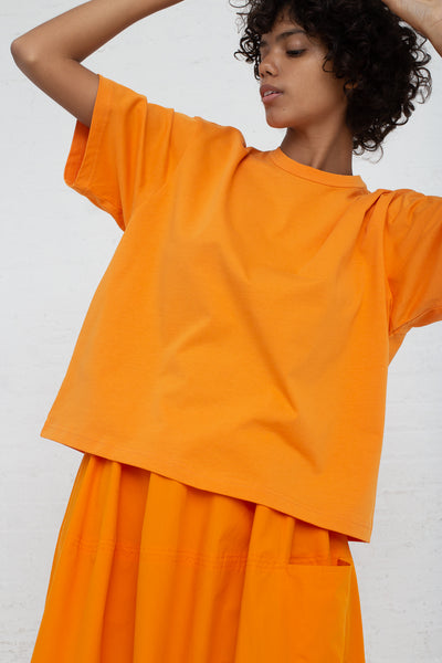 Studio Nicholson Short Sleeve T-Shirt in Saffron cropped front view