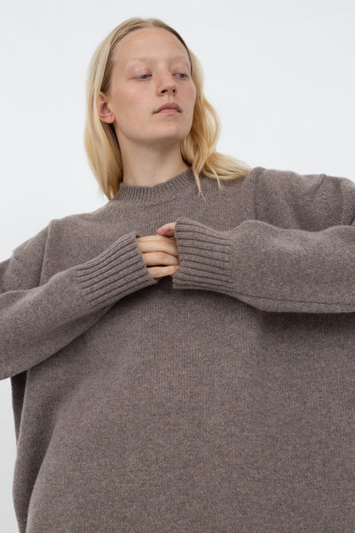 Oversized Unisex Knit in Mouse