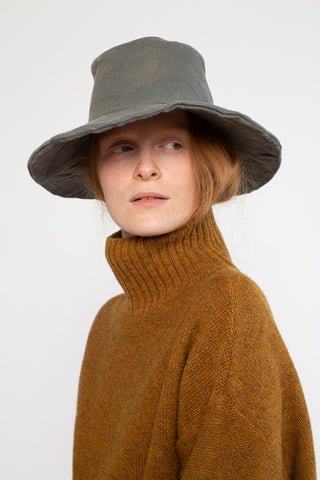 Reinhard Plank Witch Hat in Beige Felt | Oroboro Store | New York, NY