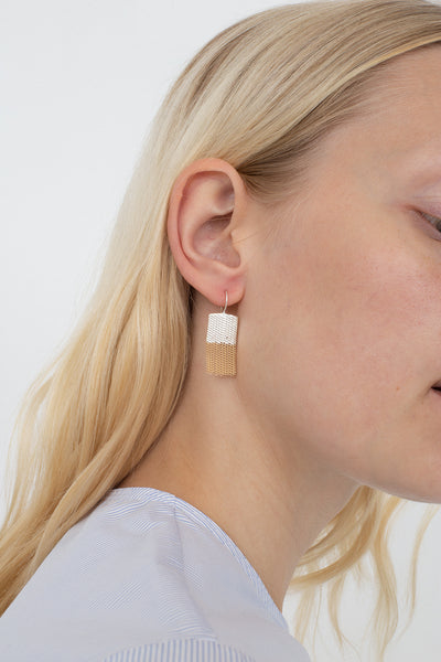 Hannah Keefe Flapper Earring in Brass & Silver | Oroboro Store | New York, NY
