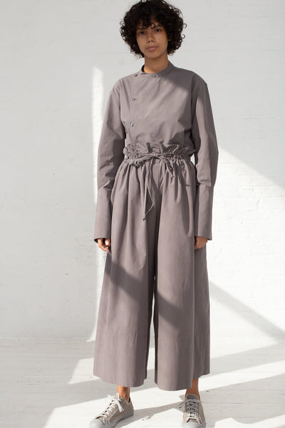 Studio Nicholson Volume Drawstring Culottes in Lead full front view