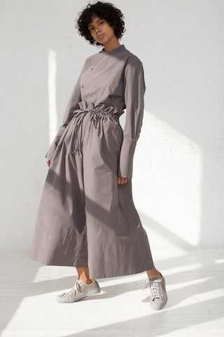 Studio Nicholson Volume Drawstring Culottes in Lead full side view