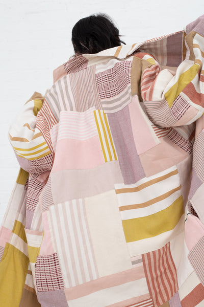 Marrakshi Life Patchwork Lab Coat in Blush | Oroboro Store | New York, NY
