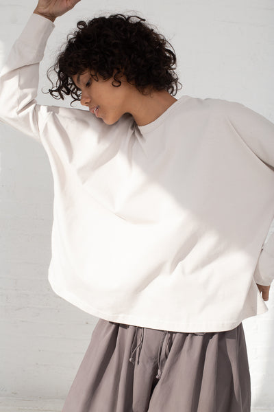 Studio Nicholson Long Sleeve T-Shirt in Bone cropped front view
