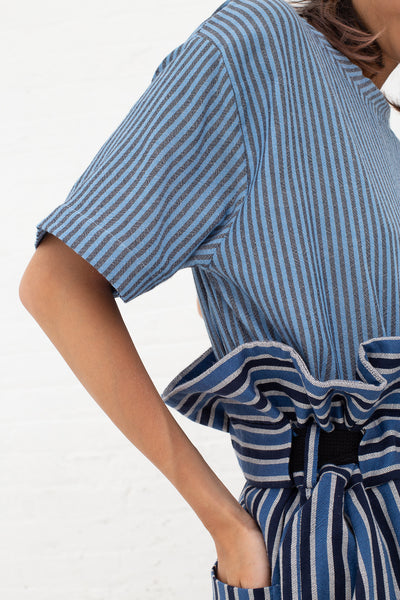 Marrakshi Life Oversized High waisted Pants in Bold Stripe Navy/Ecru/Marine | Oroboro Store | New York, NY