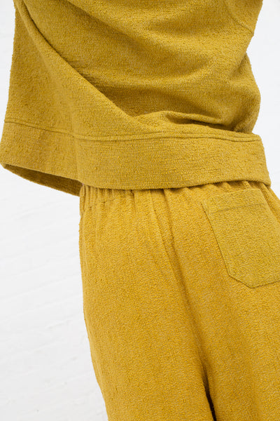 Marrakshi Life Boucle Palazzo Pants in Boucle Curry, Back View