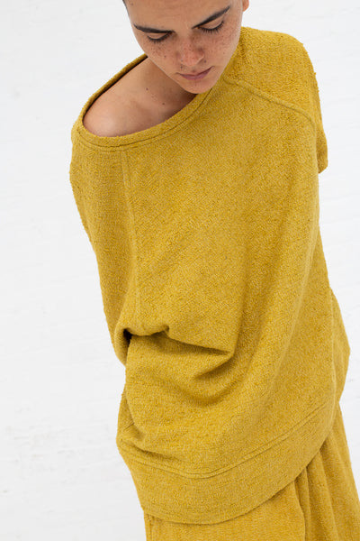 Marrakshi Life Sweatshirt in Boucle Curry, Front View Cropped at Waist