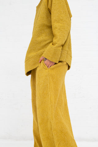 Boucle Palazzo Pants in Boucle Curry
