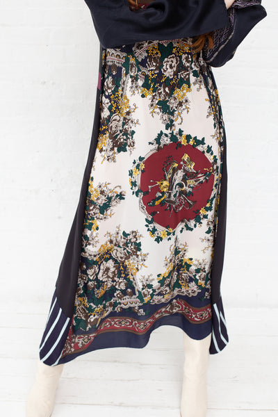 Vintage Scarves Dress in The Blue Garden | Oroboro Store | New York, NY