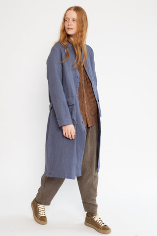 Ichi Antiquites Coat in Antique Blue | Oroboro Store | New York, NY
