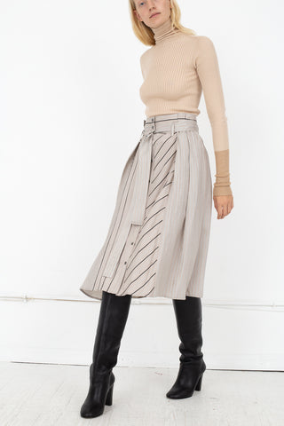 Rito Two Pattern Combinated Skirt in Grey | Oroboro Store | New York, NY