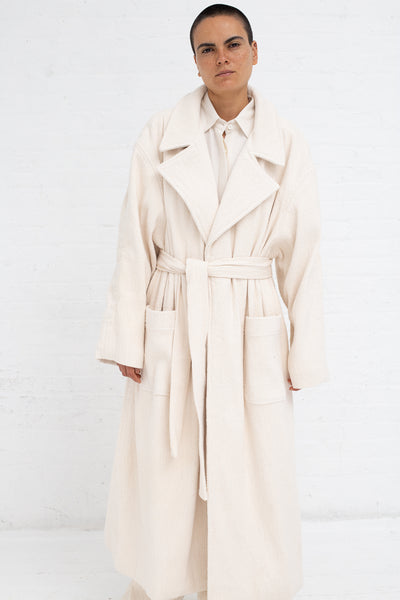 Marrakshi Life Blanket Coat in Ecru Flamme | Oroboro Store | New York, NY