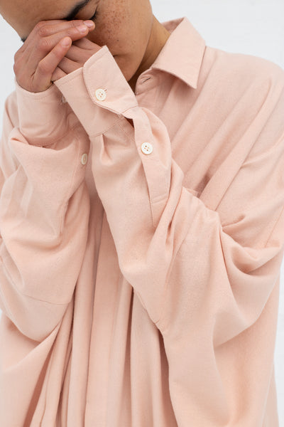 Marrakshi Life Oversized Long Shirt in Solid Blush | Oroboro Store | New York, NY