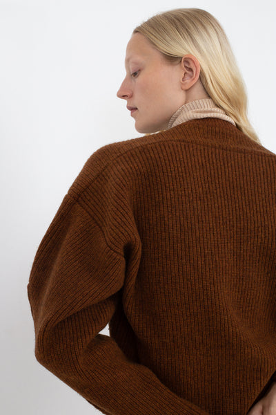 Rito Big Knit With Belt in Brown | Oroboro Store | New York, NY