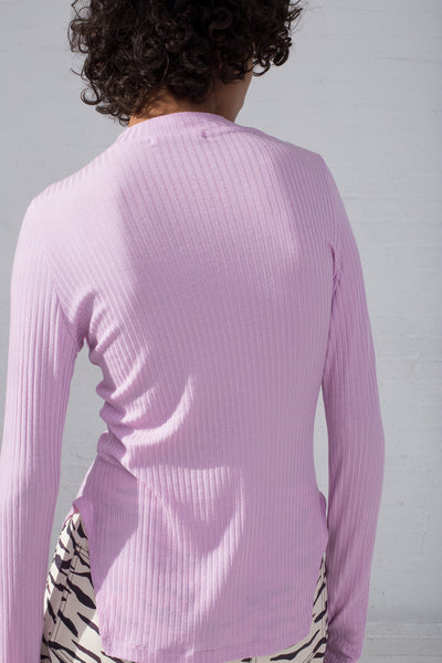 Rejina Pyo Candice Top in Lilac cropped back view