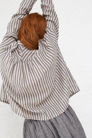 Ichi Antiquites Top in Charcoal Stripe | Oroboro Store | New York, NY