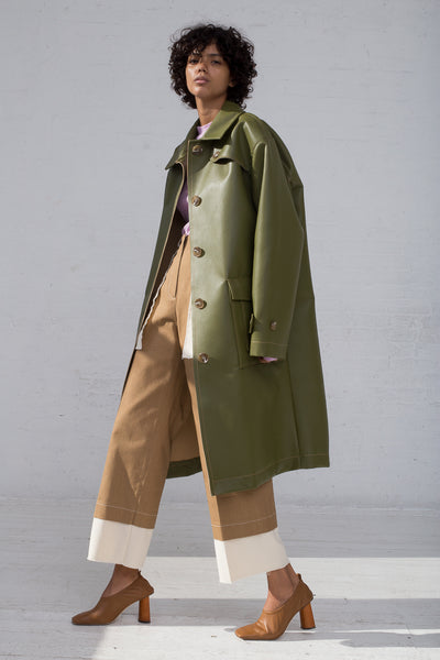 Rejina Pyo Joanna Coat in Sage Green full side view