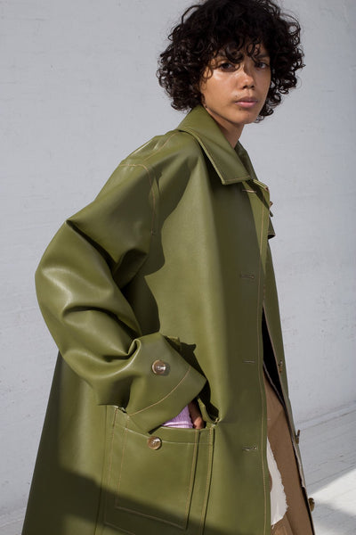 Rejina Pyo Joanna Coat in Sage Green cropped side view