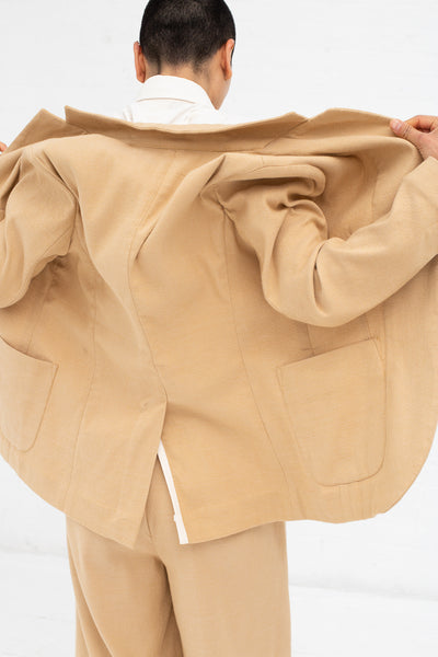 Marrakshi Life Soft Blazer in Solid Camel | Oroboro Store | New York, NY