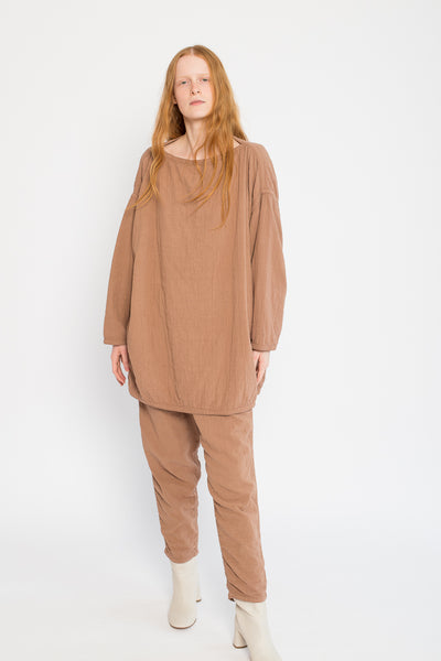 Easy Pants in Camel Cotton/Linen