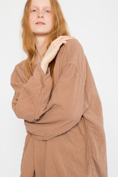 Loose Pullover in Camel Cotton/Linen